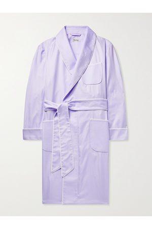 Paul Stuart Piped Herringbone Cotton Robe