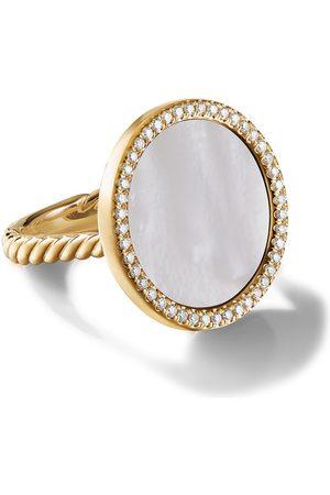 David Yurman 18kt yellow diamond 18mm elements ring