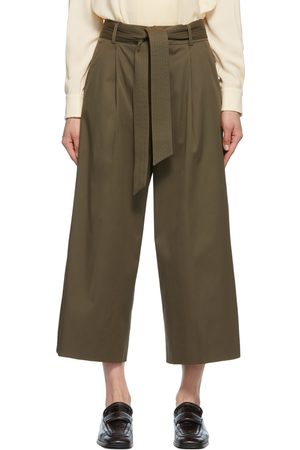 Women Pants - Max Mara Khaki Ghisa Trousers
