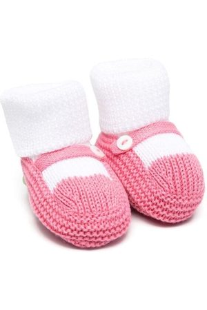 LITTLE BEAR Knitted button-detail slippers