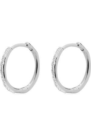 Monica Vinader Riva Wave Medium Hoop diamond earrings