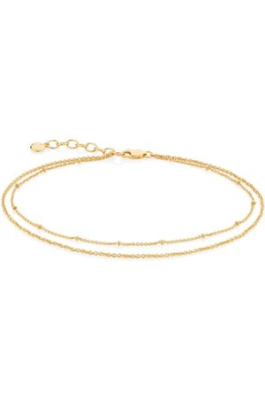 Monica Vinader Women Bracelets - Double-chain adjustable anklet