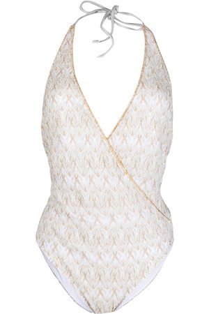 Missoni Women Beachwear - Signature-embroidered wrap one-piece