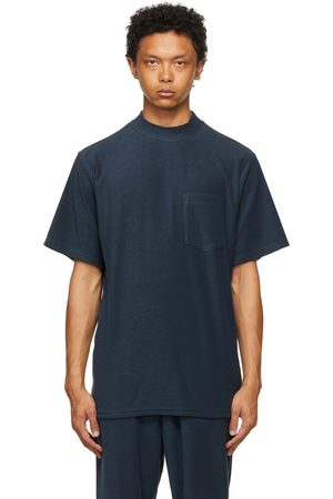 Men Short Sleeve - The Conspires Navy Terrycloth Pocket T-Shirt