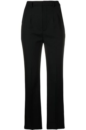 Saint Laurent Women Formal Pants - High-waisted tailored trousers