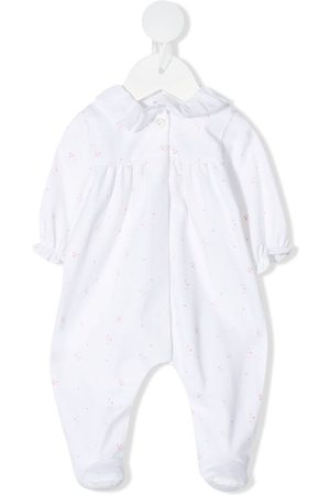 KNOT Embroidered long-sleeve babygrow