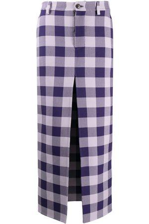 Ami Women Printed Skirts - Check-pattern maxi skirt