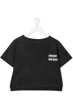 Le pandorine Slogan print cropped T-shirt