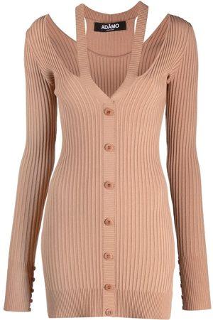 Adamo Ribbed-knit V-neck cardigan