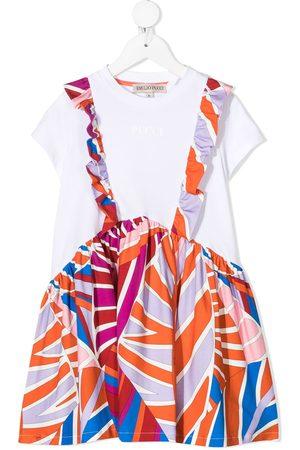 Emilio Pucci TEEN Sal panelled T-shirt dress