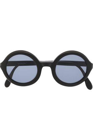 CHANEL CC logo round-frame sunglasses