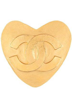 CHANEL Women Brooches - 1995 CC heart brooch