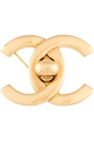 CHANEL Women Brooches - 1996 CC turn-lock brooch