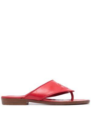 CHANEL CC stitch flat sandals