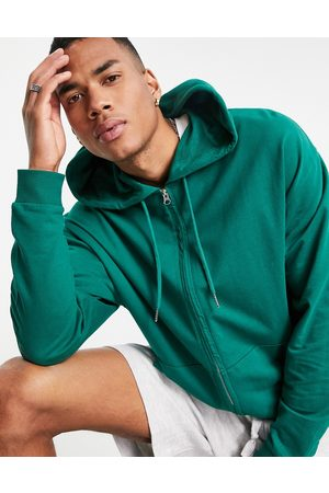 ASOS DESIGN Men Sweatshirts - Lightweight oversized zip up hoodie in