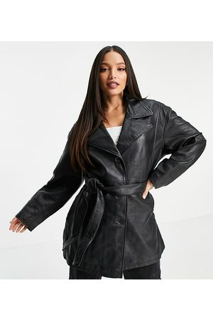 ASOS Women Leather Jackets - Tall 90's mum leather jacket in