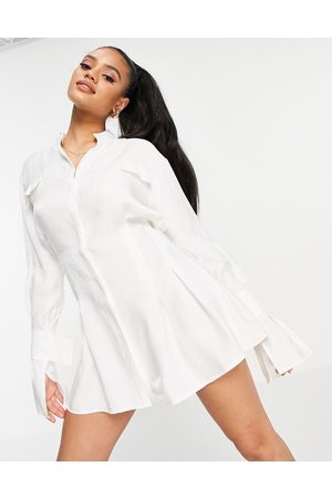 Aria Cove Women Casual Dresses - Shirt dress with tennis skirt detail in