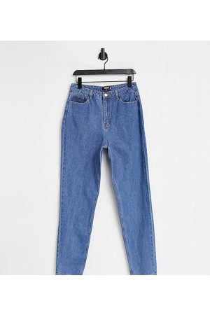 Missguided Riot high waisted plain rigid mom jean in