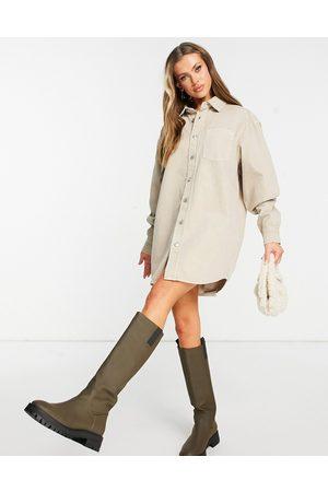 ASOS Women Casual Dresses - Denim oversized shirt dress in -Neutral