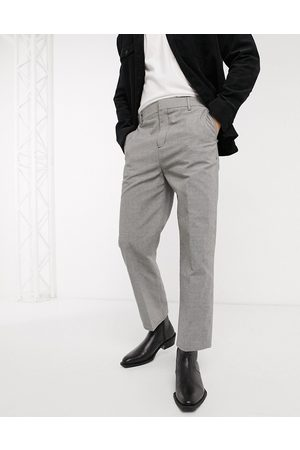 Weekday Men Chinos - Tucker Checked Trousers in Grey