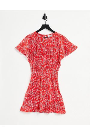 & OTHER STORIES Women Casual Dresses - Ecovero cinched waist mini dress in floral