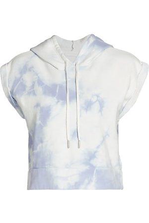 JONATHAN SIMKHAI Women Sweatshirts - Taryn Tie-Dye Cap-Sleeve Hooded Crop Sweatshirt