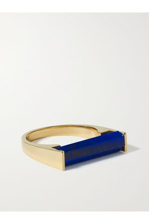 LUIS MORAIS 14-Karat Gold and Lapis Lazuli Ring