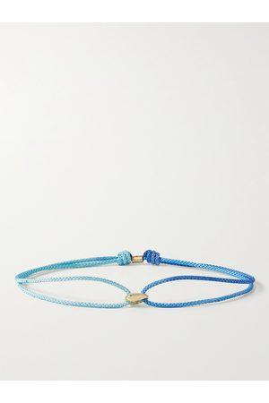 LUIS MORAIS 14-Karat Gold and Cord Bracelet