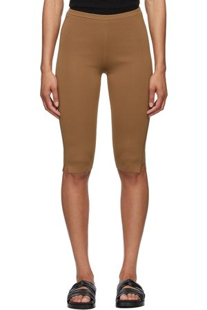 Totême Tan Cropped Compact Leggings