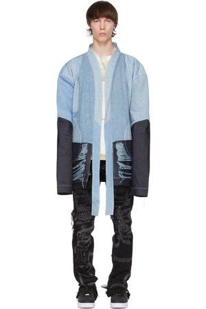 Who Decides War by MRDR BRVDO Indigo Melded Denim Patchwork Robe Jacket