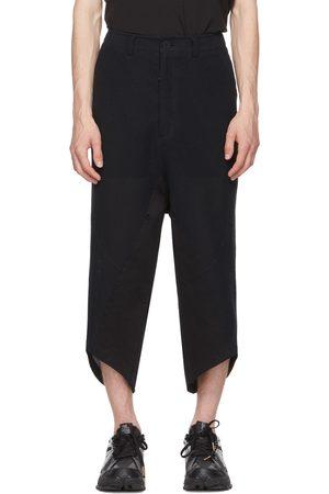 Blackmerle Navy Linen Scallop Hem Lounge Pants