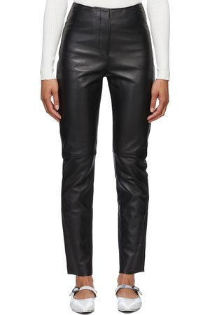 Totême Leather Straight Trousers