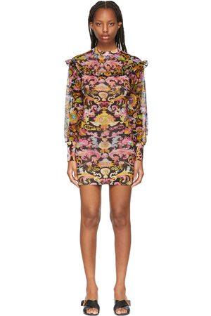 Versace Jeans Couture & Multicolor Mesh Versailles Dress