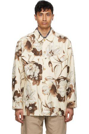 AïE Beige Canvas Floral Shirt Jacket