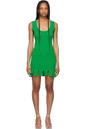 Bottega Veneta Green Rib Knit Dress