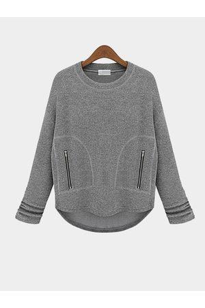 YOINS Loose Sweatshirt with Zipper Pocket