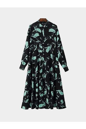 YOINS Long Sleeves Shirt Dress in Printing