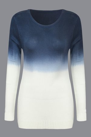 YOINS Gradient Color Chic Long Sleeves Knit Sweater