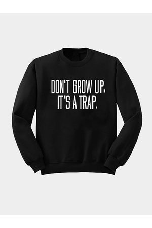 YOINS Pullover Letter Printed Front Sweatshirt