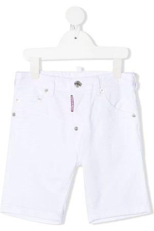 Dsquared2 Logo-patch denim shorts