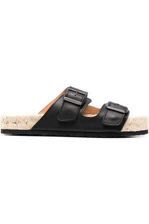 MANEBI Buckled platform sandals