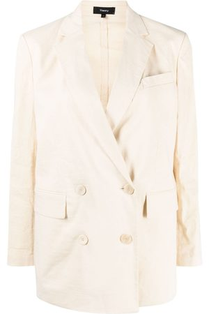 THEORY Piazza linen-blend jacket