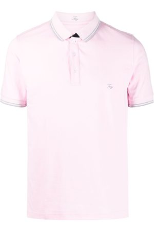 FAY Embroidered-logo stretch-cotton polo shirt