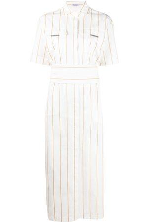 Brunello Cucinelli Striped shortsleeved shirt dress