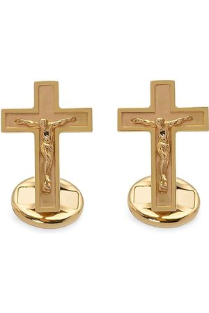 Dolce & Gabbana 18kt yellow Sicily cross cufflinks