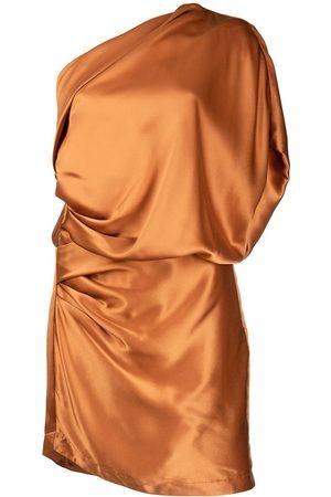Michelle Mason One-shoulder silk mini dress