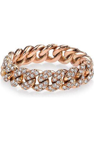 Shay 18kt rose gold mini pave diamond link ring
