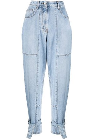 Msgm Tied-cuff denim jeans