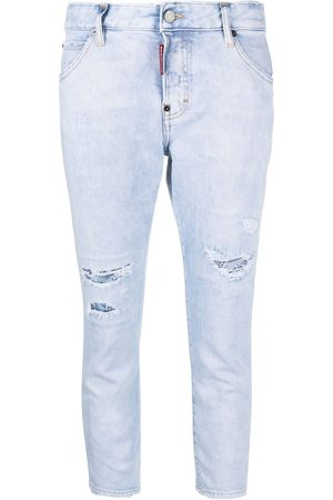 Dsquared2 Cropped distressed-effect skinny jeans