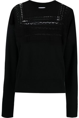 Barrie Lace-panel detail jumper